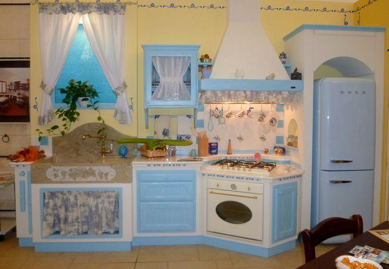cucine componibili » cucine componibili blu - ispirazioni design ... - Cucine In Finta Muratura In Offerta