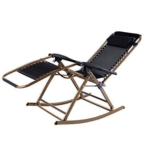 infinity zero gravity rocking chair outdoor lounge patio recliner chairs camping - Outdoor Recliner Chair