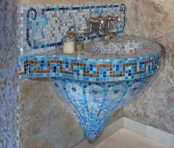 Mosaic Sink Beauty Bathroom