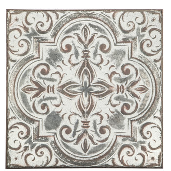 Embossed Quatrefoil With Swirls Metal Wall Decor | Hobby ... on Hobby Lobby Outdoor Wall Decor Metal id=40264