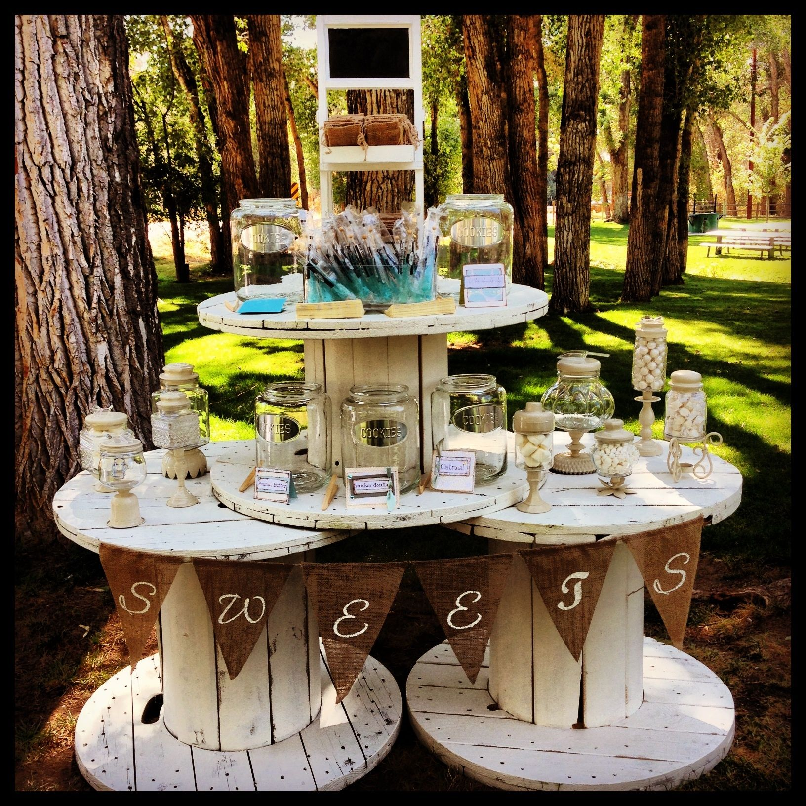 Rustic Wedding Candy Table Ideas