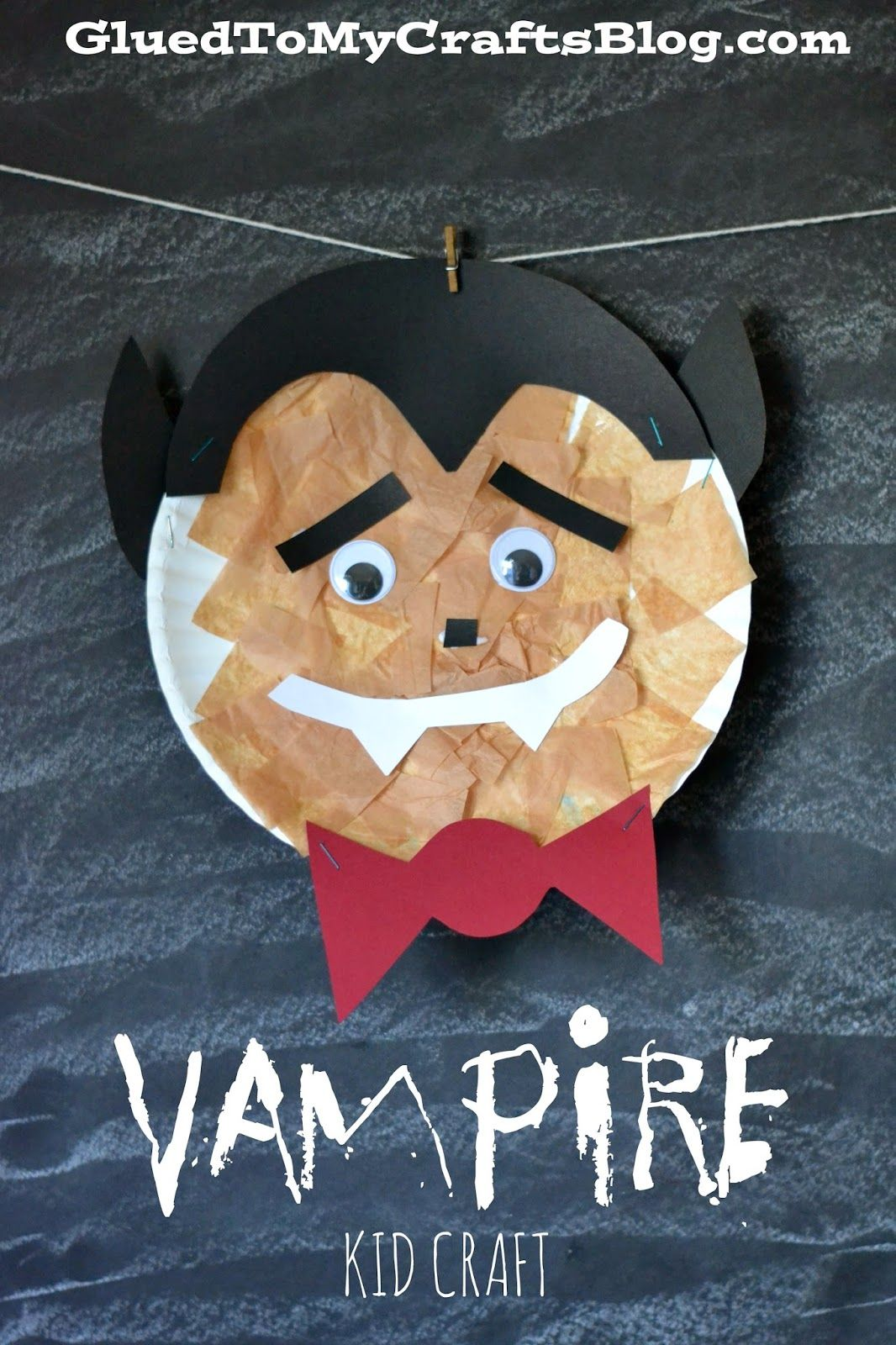 Paper Plate Vampire {Kid Craft} Halloween crafts for