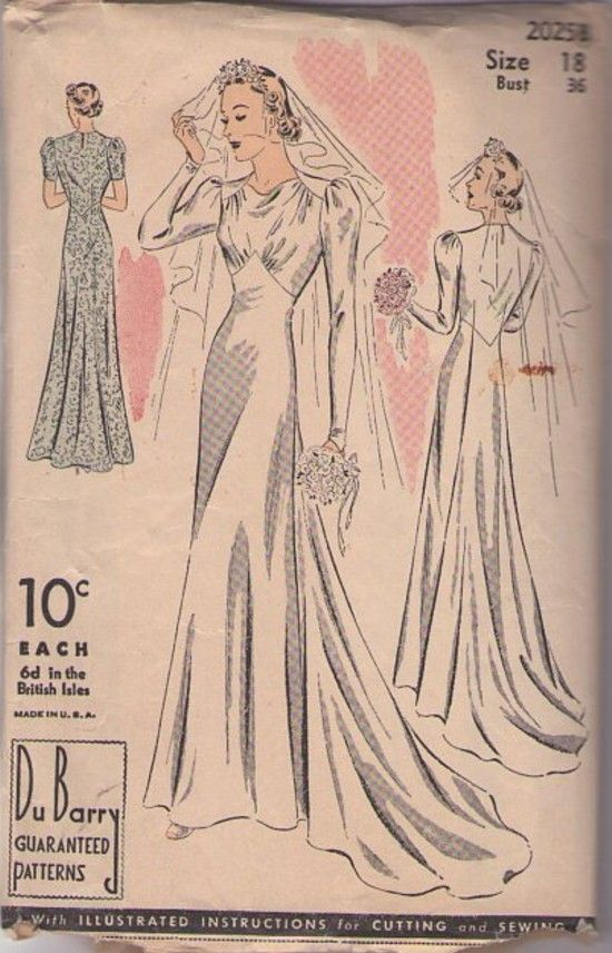 1940s art deco evening dress sewing patterns | 2025 B Vintage 30\'s ...