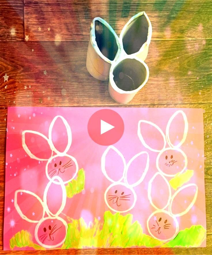 Bunny Craft  Homemade Toilet Paper Easter Bunny Craft  Homemade Toilet Paper  Toilet Paper Crafts are a fun way to get your children craftingThese toilet paper roll Easte...
