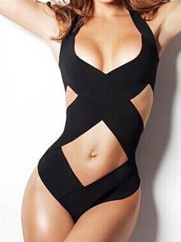 71cd9d5ccc Women One Piece Sexy Hollow Bandage Monokini | Clothes! in 2019 ...
