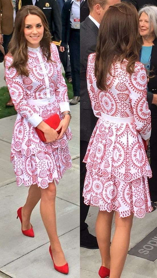 Kate Middleton wears Alexander McQueen and a Miu Miu clutch on Day 2 ...