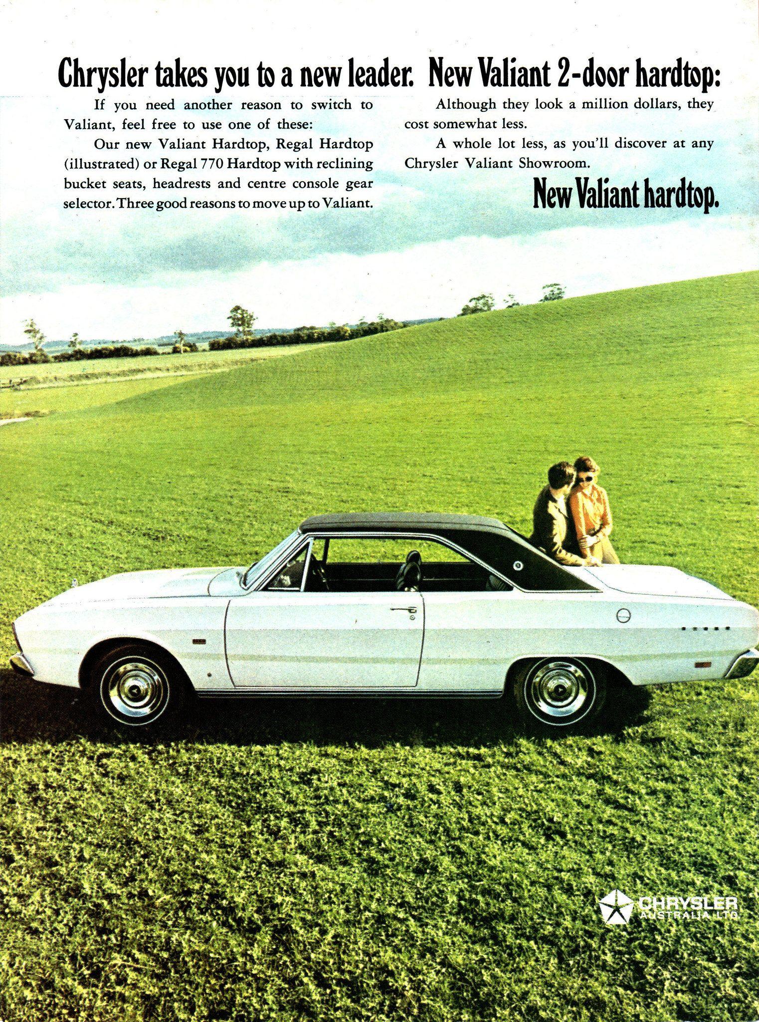 1969 VF Chrysler Valiant Regal 770 2 Door Hardtop Aussie Original