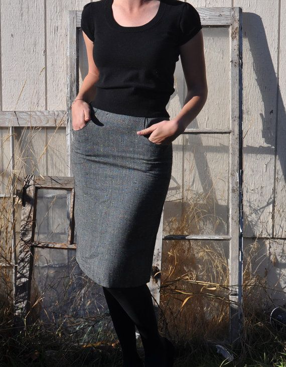 "Vintage ""Partners"" by Mervyns Pencil Skirt / Pin-up Skirt Size Small"