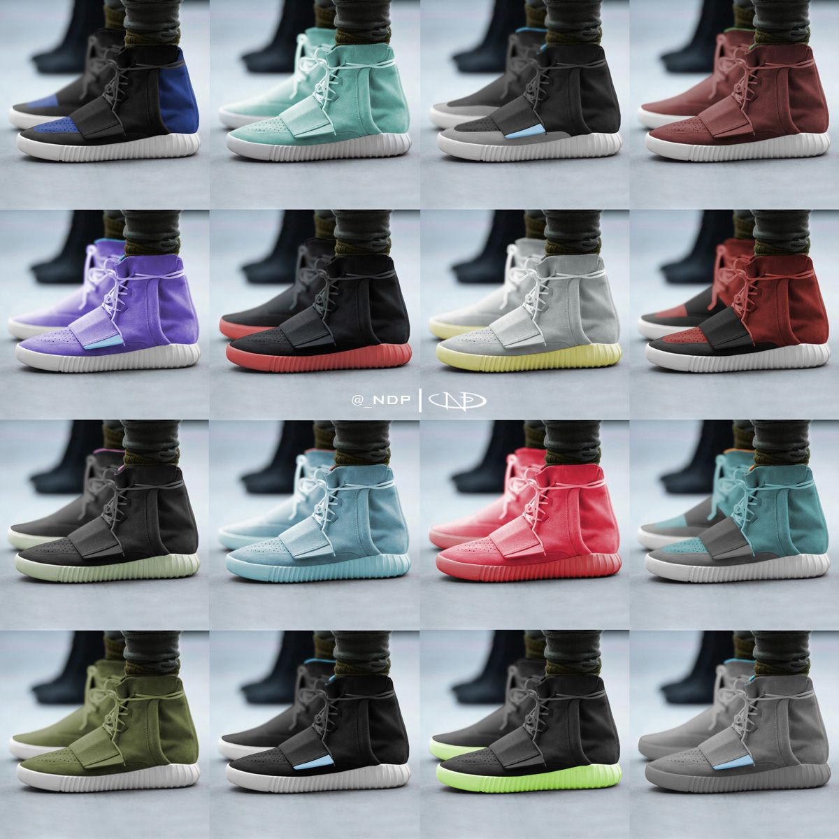 Adidas Yeezy Boost Colours
