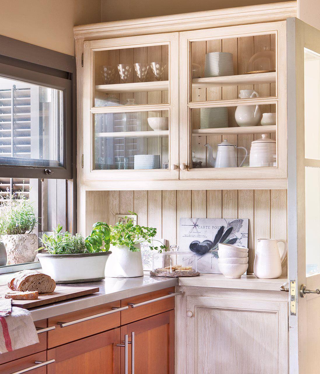 Vitrina Cocina   Vitrina Para La Cristaleria En Cocina El Mueble Pinterest