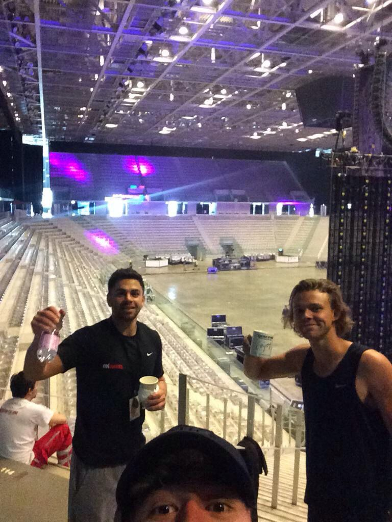 Cashton with crew members in Milan // May 8th, 2015