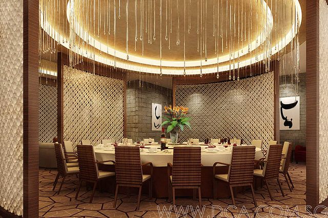 hotel chinese restaurant vip room 3d rendering | 3d rendering