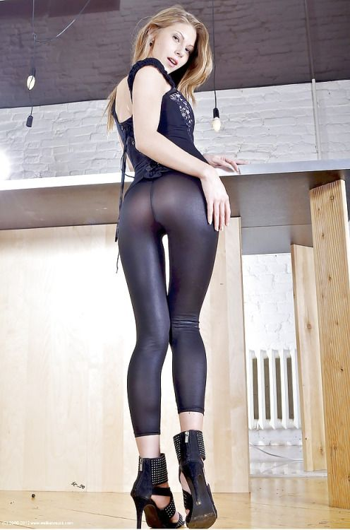 Tight shiny spandex girls all