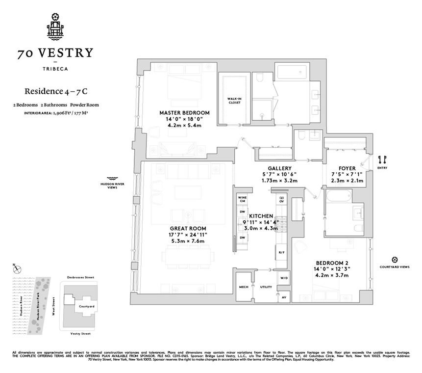 70 Vestry #4C In Tribeca, Manhattan