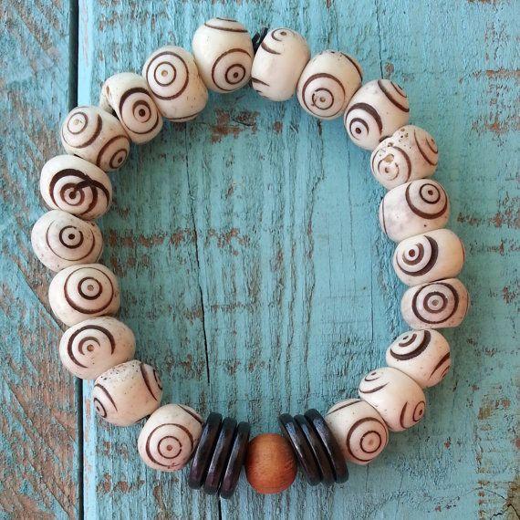 Water Buffalo Bone Bracelet by LoveisaSeed on Etsy, $10.00
