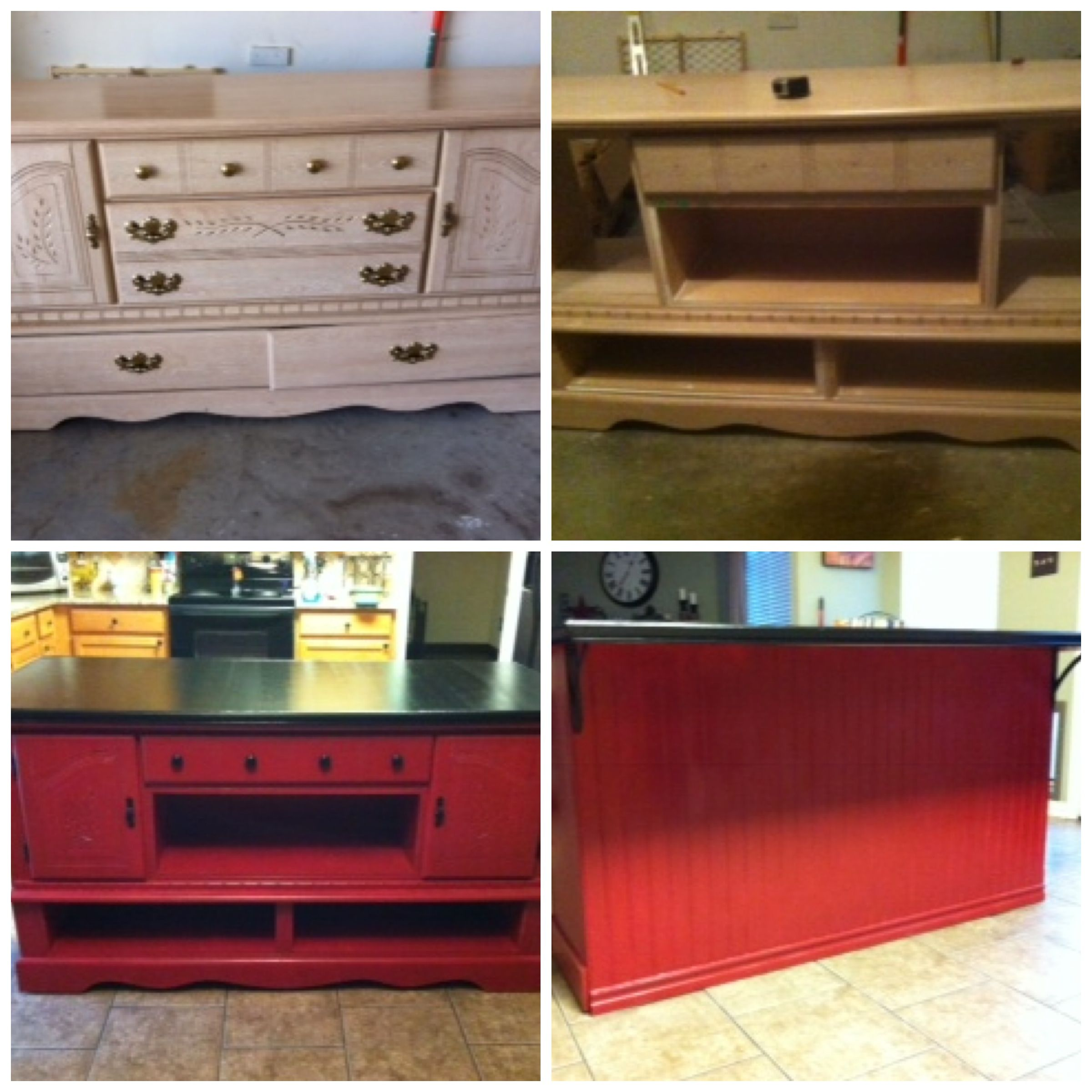 My First Pintrest Project 40 Dresser From Craigslist Repurposed As A Kitchen Island Diy Kitchen Island Home Remodeling Home Decor