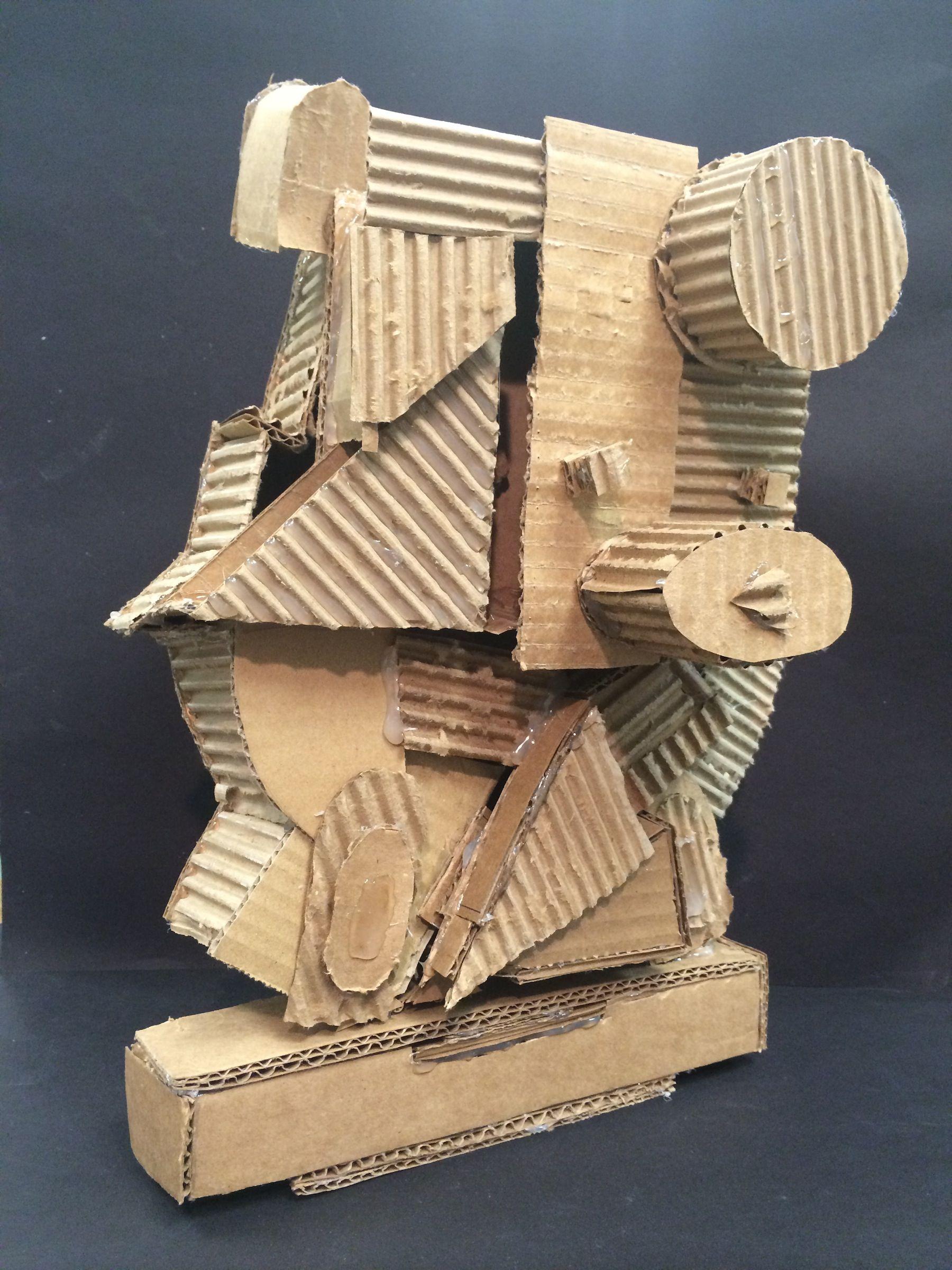 Cubist Sculpture Cardboard