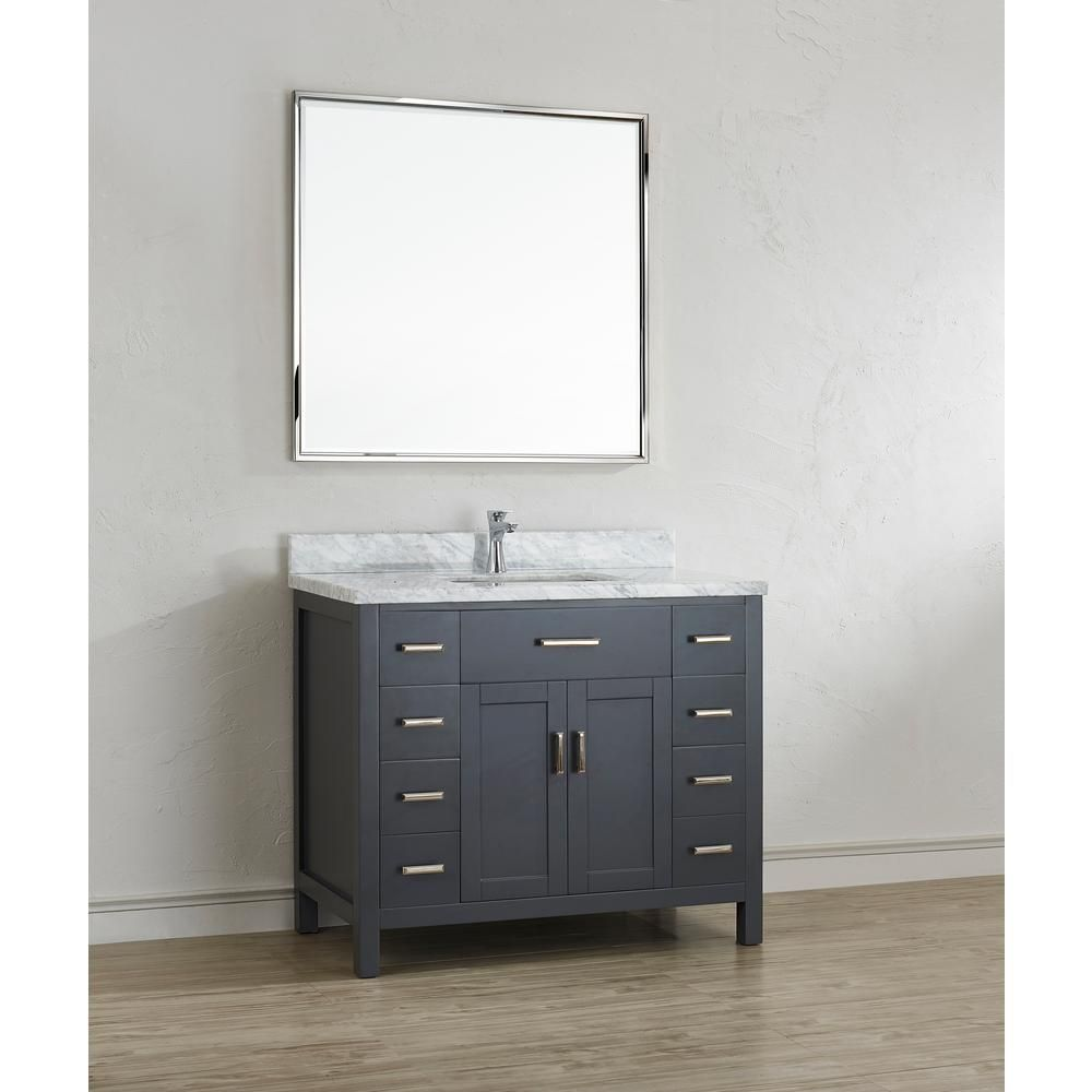 Studio Bathe Kalize II 42 In. W X 22 In. D Vanity In Pepper