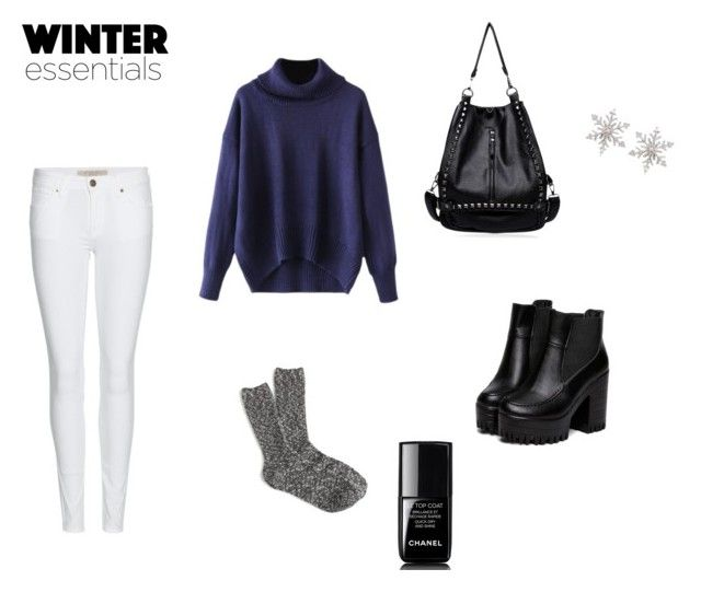 """winter essentials"" by mitchxox on Polyvore featuring Burberry, J.Crew, Chanel and Ross-Simons"