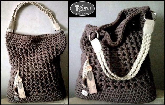 Handtasche Yoftis No7 Häkel Handtasche Textilgarn Ein