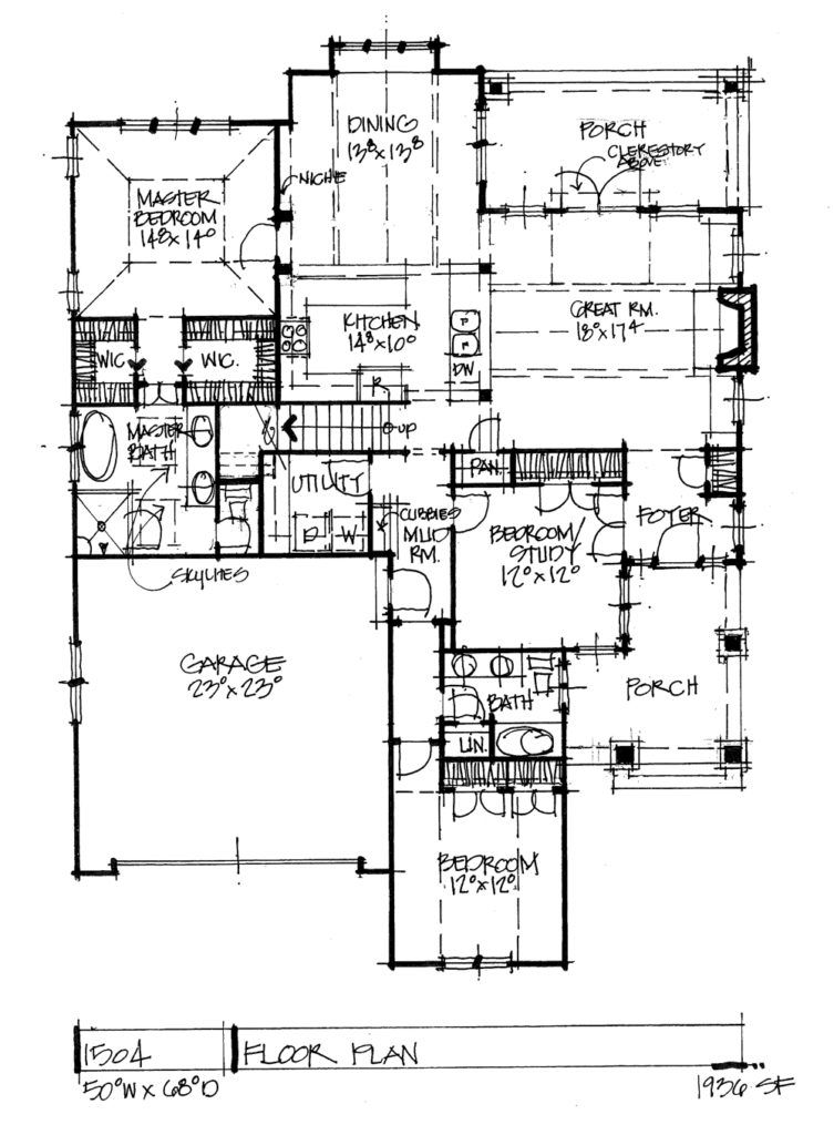 House Plan 1504 House plans, How to plan, Floor plans