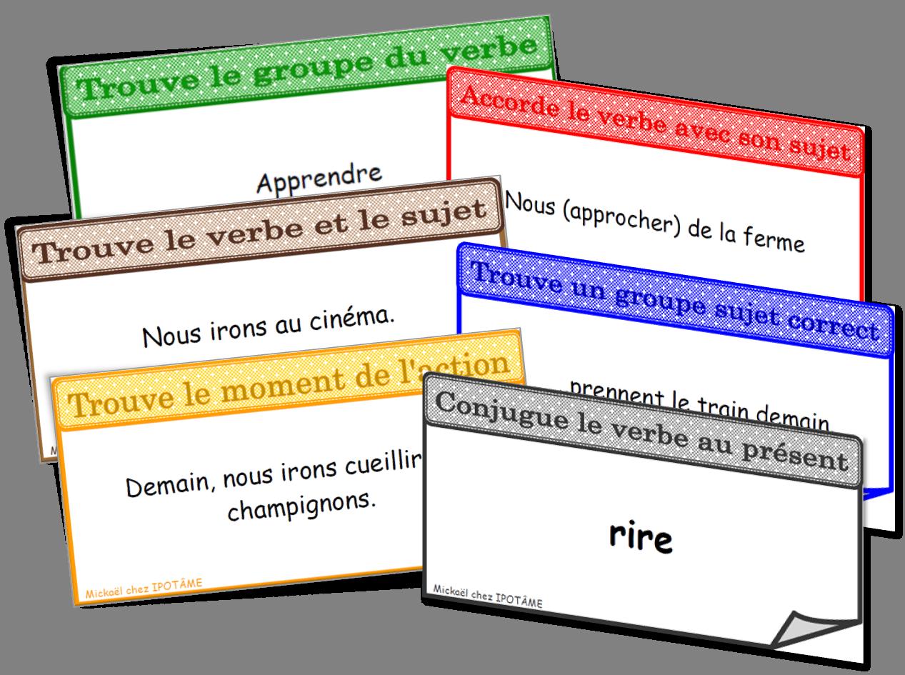 Conj Plate Png Jeu Conjugaison Jeux De Grammaire Conjugaison