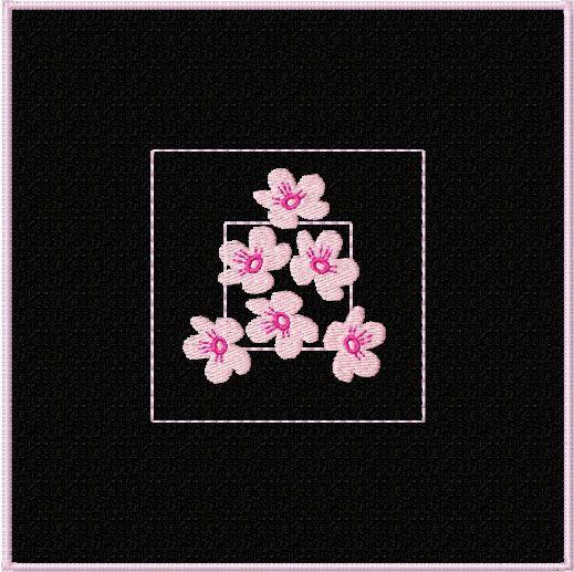 Diseños Cherry Blossom Quilt Motivos / Bloques Máquina del bordado