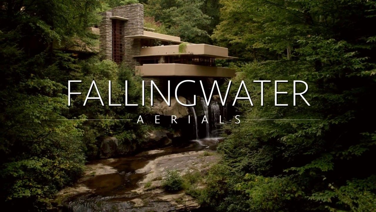 A Drones Eye View Of Fallingwater House By Frank Lloyd Wright
