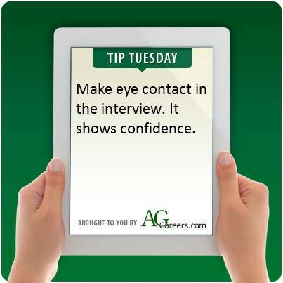 Make eye contact in the interview It shows confidence Interviews