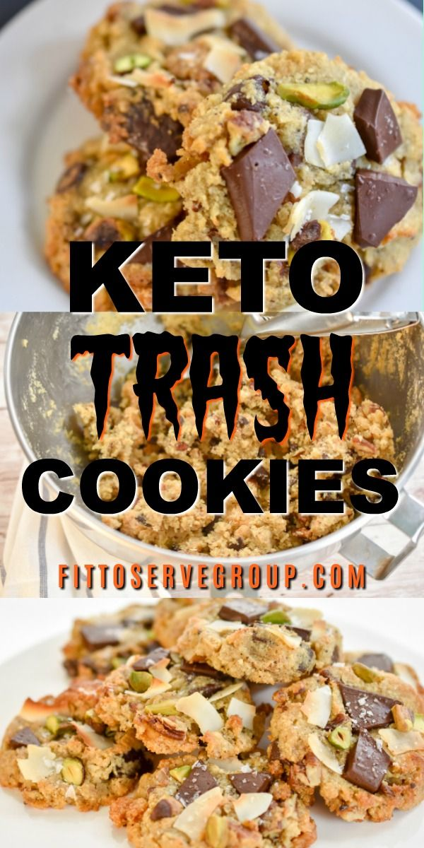 Keto Trash Cookies #ketocookierecipes