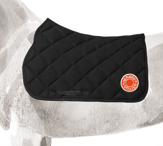 Oxford Saddle Pad Hermes Saddle Pad In Black Thick Quilted Cotton