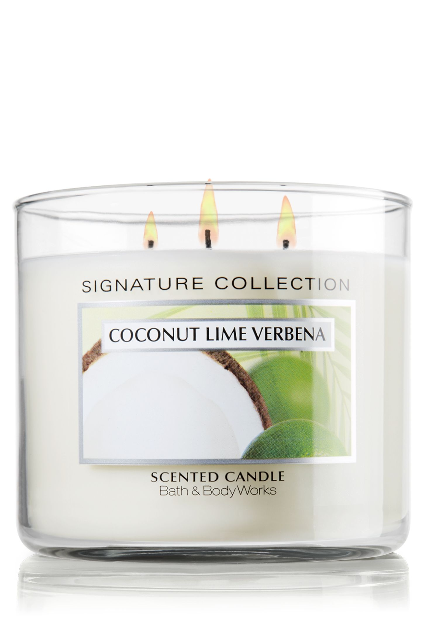 Coconut Lime Verbena 14.5 oz. 3-Wick Candle - Signature Collection ...