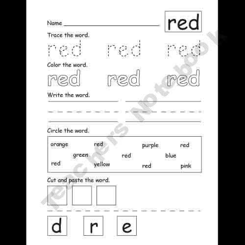 Kindergarten-Supplies Shop - | Teachers Notebook | Kindergarten ...