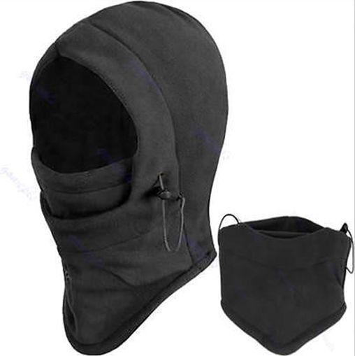88d589798fe 4 in 1 SNOOD Fleece Mens scarf BLACK Hood Balaclava Neck Winter warmer Face  Mask  NewFashion  BalaclavaSnood