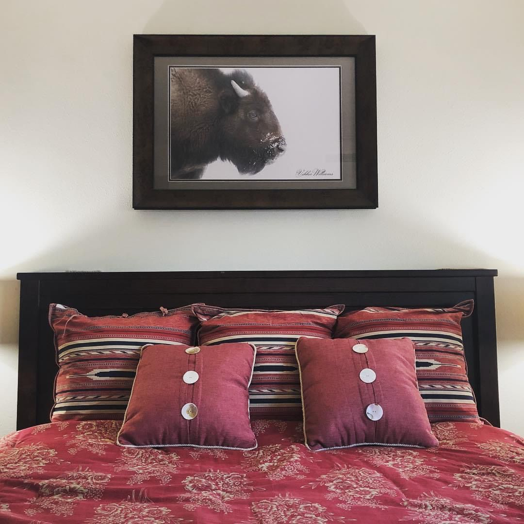 Bison of Nortb Dakota are especially beautiful in the snow. #rustic #bison #buffalo #rustichomedecor #homedecorideas #bedroomdecorideas #bedroomdecoration