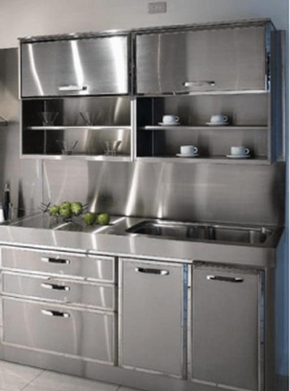 Metal Kitchen Cabinet | Metal kitchen cabinets, Modern ...
