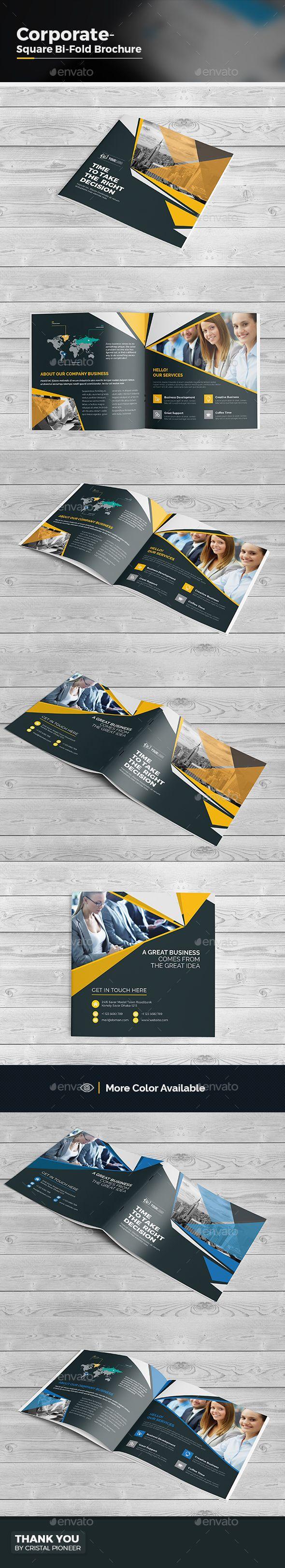 Square Bi Fold Brochure Template