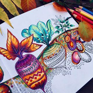 Rita Berman Rita Berman Instagram Fotos Und Videos Coloring Book Art Colorful Art Projects Marker Art