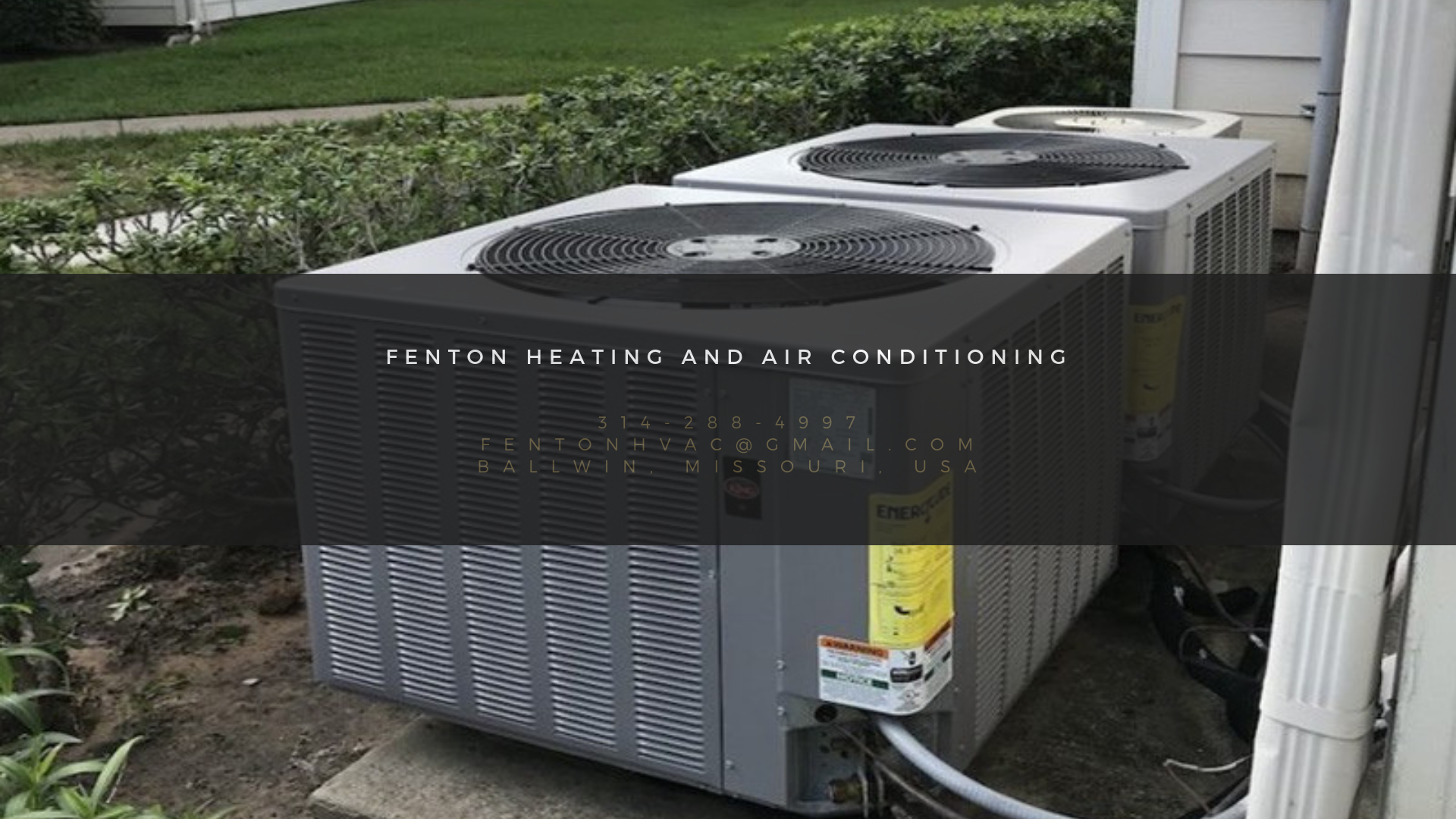 Fenton Residential Air Conditioning Company In Ballwin Mo Started