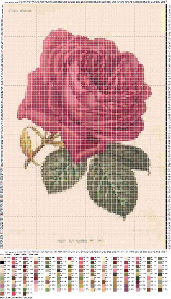 ВЫШИВКА(цветы) | Ladrillo, Patrones y Punto de cruz