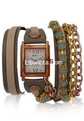 ساعات ماركة La Mer ساعات ماركة La Mer الاصلية ساعات ماركه لامير 2014 اكسسوارات بنوته أزياء بنوته بنوته كافيه Stuff To Buy Chain Strap Womens Watches
