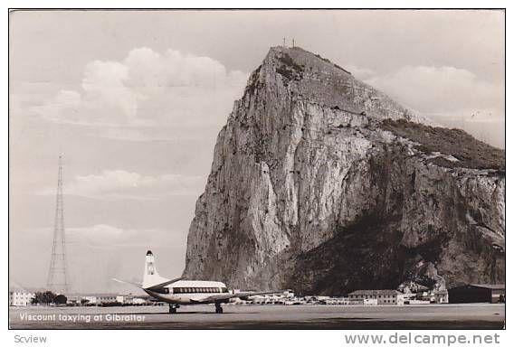 RP, Airplane, Viscount Taxying At Gibraltar, PU-1961 - Delcampe.com