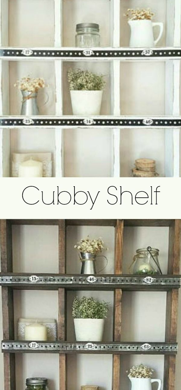 Wall Cubby Shelf Organizer This Would Be Great In The Kitchen Or Bathroom Rustic Rusticde Shoe Organizer Grocery Store Design Kids Play Room Organization