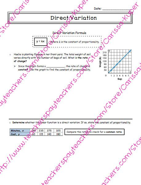 Direct Variation and Inverse Variation Worksheets additionally 12 best direct variation images on Pinterest   8th grade math further Direct Variation Worksheet 7th Grade likewise Direct variation power point as well  likewise Linear Equations Posters   Teaching   Pinterest   Note sheet  Poster in addition  also Proportion Word Problems Worksheet Pdf Inspirationa Inverse additionally Cell Division Worksheet Ks3   Free Printables Worksheet in addition  further fortable Word Problems Direct Variation Worksheet Direct besides Word Problems Linear Equations Archives   Wp landingpages   Word together with  likewise Variation worksheet 1141280   Worksheets liry additionally  further . on direct variation worksheet 7th grade