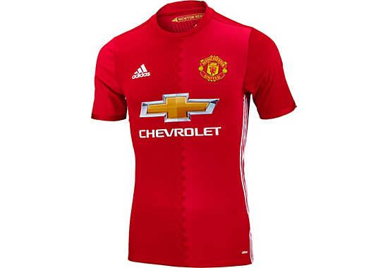 adidas Manchester United Authentic Jersey - Man Utd Home Jerseys
