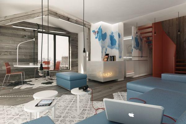 Blau-Weiß Farbschema MöbelDesign ARQUITETURA Pinterest Trends - wohnzimmer blau weis