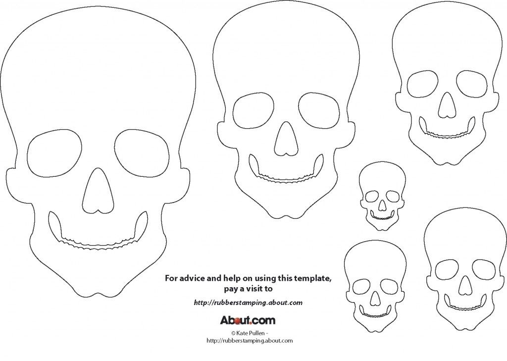 this skull template is perfect for your halloween and day of the ...