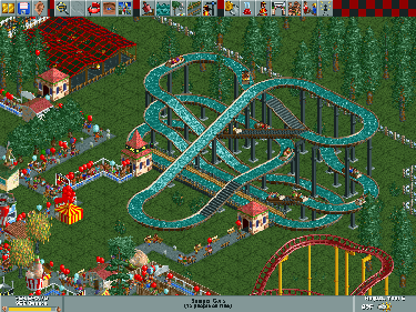 Screen shot from Rollercoaster Tycoon, PC game of the 90's