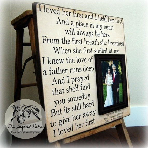 Father Daughter Gifts Part - 38: Personalized Wedding Gift Picture Frame 16x16 I By Thesugaredplums, $75.00. Father  Daughter ...