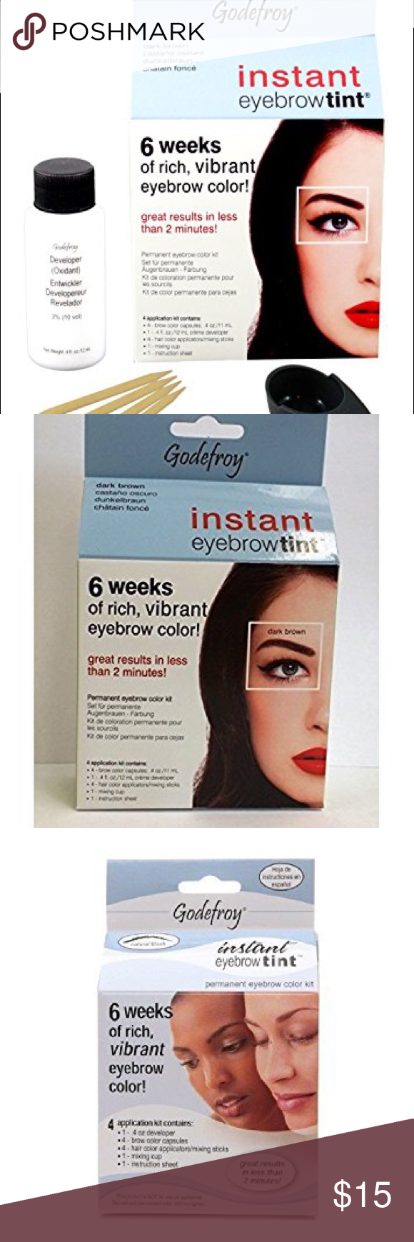 Jet Black Instant Eyebrow Tint Brand New Description Godefroy